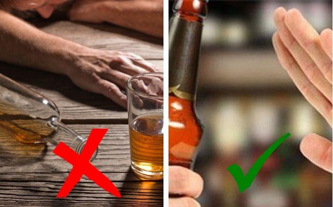 Không nên sử dụng rượu bia