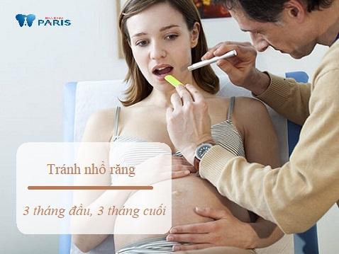 Không nên nhổ răng khôn khi mang thai trong giai đoạn 3 tháng đầu và 3 tháng cuối thai kỳ
