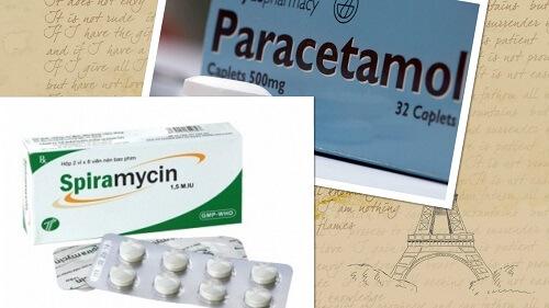 Thuốc giảm đau răng khôn là Paracetamol và Spiramycin
