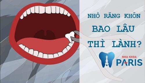 Nhổ răng khôn bao lâu thì lành? Chế độ ăn uống CHUẨN sau nhổ răng 1