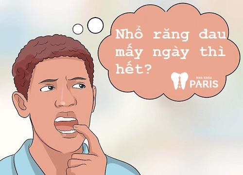 Nhổ răng mấy ngày thì hết đau?