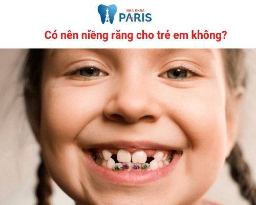 Nhổ răng để niềng ở ảnh hưởng gì không ở trẻ em?