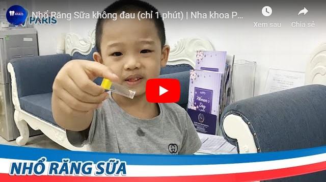 Video nhổ răng trẻ em