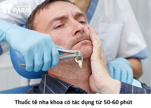 tiêm thuốc tê có tác dụng bao lâu