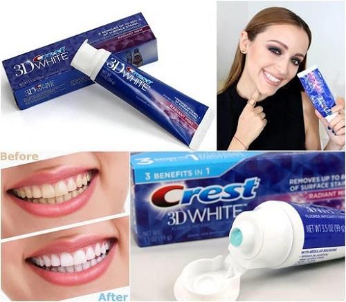 Công dụng của kem đánh răng Crest 3D White