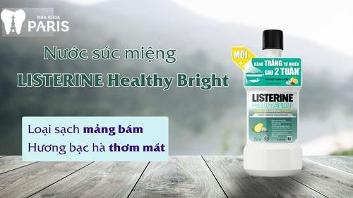 nước súc miệng listerine healthy bright