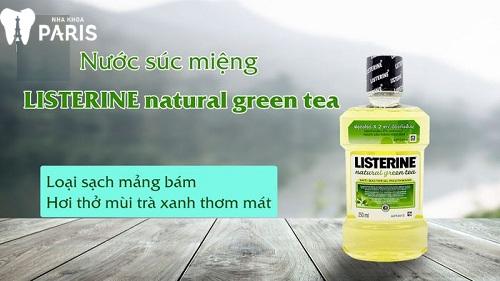 nước súc miệng listerine trà xanh
