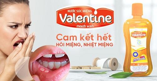 Nước súc miệng thái dương valentine chai 500ml
