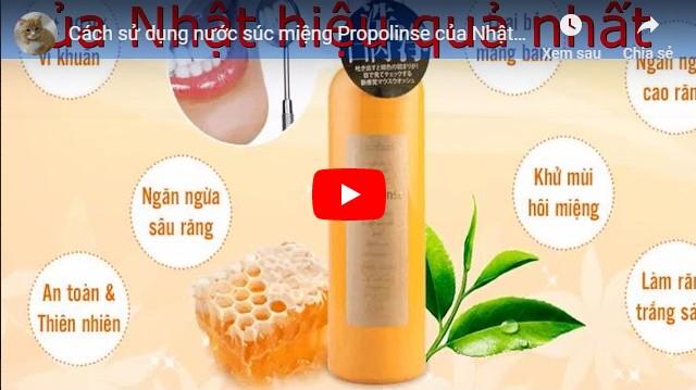 cách dùng nước súc miệng propolinse chính hãng