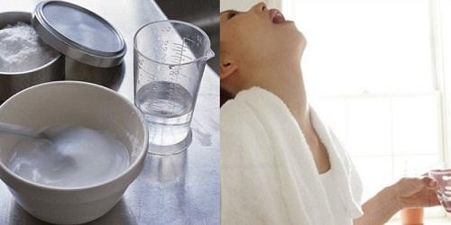 công thức pha nước muối súc miệng