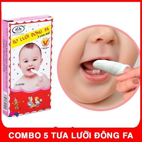 Gạc tưa lưỡi cho trẻ sơ sinh