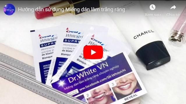 Video miếng dán trắng răng cách dùng
